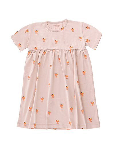 ICE CREAM CUP DRESS_dusty pink ( 4Y, 6Y )