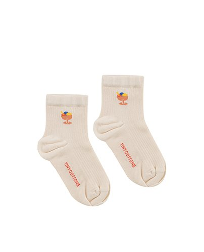 ICE CREAM CUP SHORT SOCKS_light cream (DROP1)