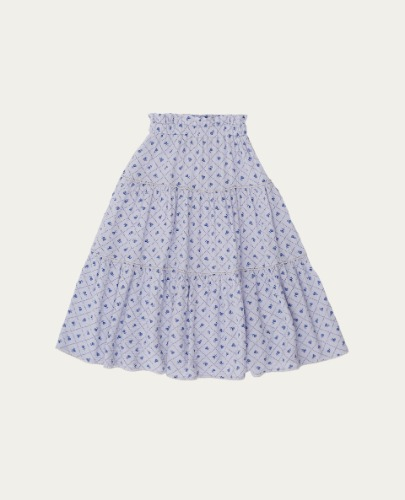 TC-SS21-44(Checks & Flowers Skirt) ( 4Y last )